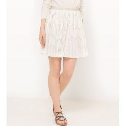 Minispódniczki: Plisowana spódnica w gumkę z metalizowaną nicią
