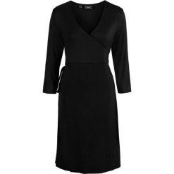 Sukienki: Sukienka ciążowa shirtowa, kopertowa bonprix czarny
