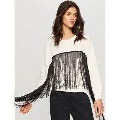 Bluza z frędzlami - Kremowy. Białe bluzy damskie marki Reserved, l. W wyprzedaży za 69,99 zł.