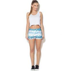 Spodnie damskie: Colour Pleasure Spodnie damskie CP-020 281 biało-niebieskie r. XS/S