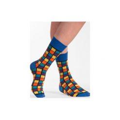 Kostka Rubika - kolorowe skarpetki Spox Sox. Brązowe skarpetki męskie N/A, w kolorowe wzory. Za 20,00 zł.