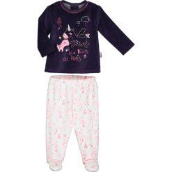 Spodnie niemowlęce: 2-częściowy zestaw w kolorze fioletowo-białym