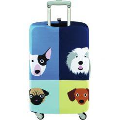 Pokrowiec na walizkę LOQI Stephen Cheetham Dogs. Szare walizki LOQI, z elastanu. Za 114,00 zł.
