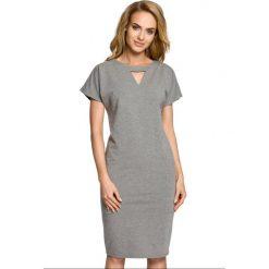 Sukienki dresowe: Sukienka ołówkowa ze stójką moe317