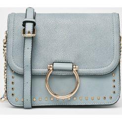 Answear - Torebka. Szare torebki klasyczne damskie ANSWEAR, w paski, z materiału, małe. W wyprzedaży za 89,90 zł.