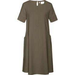 Sukienki hiszpanki: Sukienka bonprix ciemnooliwkowy