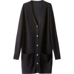 Długi sweter z wiskozy z kieszeniami. Czarne kardigany damskie La Redoute Collections, s, z poliamidu. Za 94,46 zł.