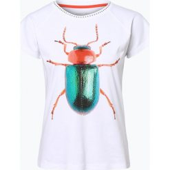 Marc Cain Collections - T-shirt damski, czarny. Czarne t-shirty damskie Marc Cain Collections, z nadrukiem. Za 449,95 zł.