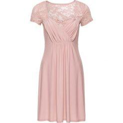 Sukienki: Sukienka z dżerseju z koronką bonprix stary jasnoróżowy