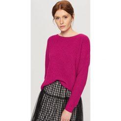 Sweter z zabudowanym dekoltem - Fioletowy. Białe swetry klasyczne damskie marki Reserved, l. Za 59,99 zł.