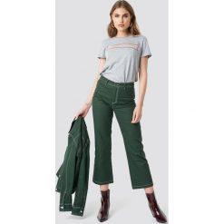 Spodnie damskie: Moves x NA-KD Spodnie Misanda - Green