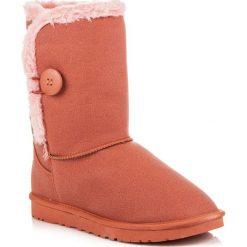 Buty zimowe damskie: Pomarańczowe śniegowce mukluki