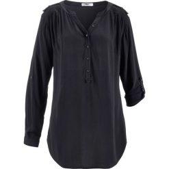 Tunika, długi rękaw bonprix czarny. Czarne tuniki damskie z długim rękawem bonprix. Za 74,99 zł.