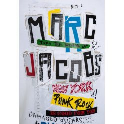 T-shirty chłopięce z nadrukiem: Little Marc Jacobs KURZARM  Tshirt z nadrukiem weiß/schwarz
