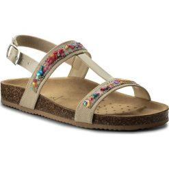 Sandały GEOX - J N.S.Aloha G.B J821CB 01002 C5000 D Beige. Brązowe sandały damskie Geox, z materiału. Za 289,00 zł.