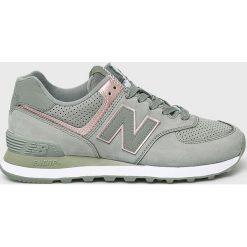 New Balance - Buty WL574NBL. Szare buty sportowe damskie New Balance, z materiału. Za 399,90 zł.