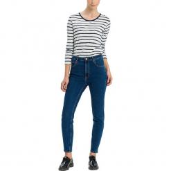 """Dżinsy """"Joyce"""" - Regular fit - w kolorze granatowym. Niebieskie spodnie z wysokim stanem marki Cross Jeans, z aplikacjami, z tkaniny. W wyprzedaży za 127,95 zł."""