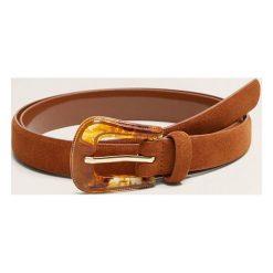 Mango - Pasek Cowboy. Brązowe paski damskie Mango, w paski, z materiału. Za 59,90 zł.