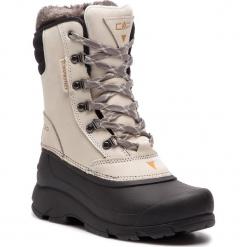 Śniegowce CMP - Knos Wmn Snow Boot Wp 38Q4556 Rock A121. Białe buty zimowe damskie marki CMP, z materiału. W wyprzedaży za 279,00 zł.