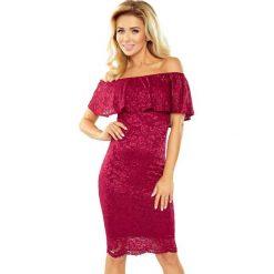 Luisa Sukienka koronkowa - hiszpanka - bordowa. Czerwone sukienki hiszpanki morimia, s, z koronki, z dekoltem typu hiszpanka. Za 219,99 zł.