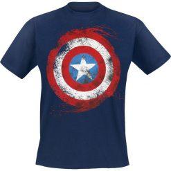 Captain America Logo Artwork T-Shirt ciemnoniebieski. Niebieskie t-shirty męskie z nadrukiem Captain America, m, z klasycznym kołnierzykiem. Za 74,90 zł.