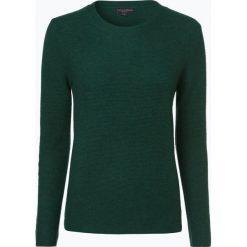 Franco Callegari - Damski sweter z wełny merino, zielony. Zielone swetry klasyczne damskie marki Franco Callegari, z napisami. Za 249,95 zł.