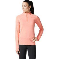 Bluzy damskie: Adidas Bluza damska Supernova 1/2 Zip pomarańczowa r. S  (BR8080)