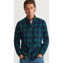 Koszula w kratę regular fit - Khaki. Brązowe koszule męskie marki LIGNE VERNEY CARRON, m, z bawełny. Za 99,99 zł.