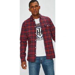 Tommy Jeans - Koszula. Brązowe koszule męskie jeansowe Tommy Jeans, l, w kratkę, button down, z długim rękawem. Za 359,90 zł.