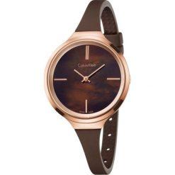 ZEGAREK CALVIN KLEIN Lively K4U236FK. Brązowe zegarki damskie marki Calvin Klein, szklane. Za 959,00 zł.