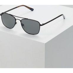 GANT Okulary przeciwsłoneczne matte black/smoke. Czarne okulary przeciwsłoneczne męskie aviatory GANT. Za 689,00 zł.