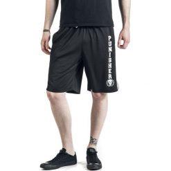 The Punisher Logo Krótkie spodenki czarny/biały. Białe spodenki i szorty męskie The Punisher, z nadrukiem. Za 121,90 zł.