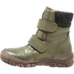 Froddo Śniegowce dark green. Zielone buty zimowe chłopięce Froddo, z materiału. W wyprzedaży za 259,35 zł.