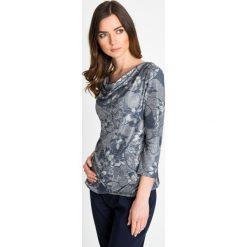 Bluzki asymetryczne: Metaliczna bluzka w kwiaty QUIOSQUE