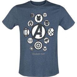 T-shirty męskie z nadrukiem: Avengers Infinity War – Logos T-Shirt odcienie niebieskiego