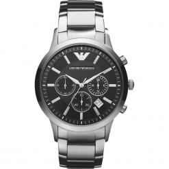 Zegarek EMPORIO ARMANI - Renato AR2434  Silver/Silver. Szare zegarki męskie marki Emporio Armani, l, z nadrukiem, z bawełny, z okrągłym kołnierzem. Za 1349,00 zł.