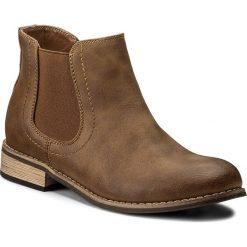 Sztyblety JENNY FAIRY - WS1250-04 Camel. Brązowe buty zimowe damskie Jenny Fairy, z materiału. Za 99,99 zł.