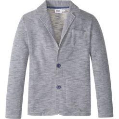 Swetry męskie: Żakiet dresowy bonprix ciemnoniebiesko-biel wełny melanż