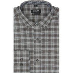 Koszula bexley f2486 długi rękaw custom fit brąz. Brązowe koszule męskie jeansowe marki Recman, m, button down, z długim rękawem. Za 99,99 zł.