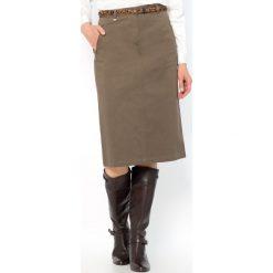 Długie spódnice: Prosta, długa spódnica, bawełnaina satyna ze streczem. 64 cm