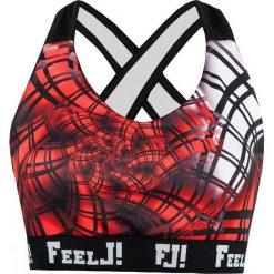 Biustonosze sportowe: Feelj Stanik Energy czarno-czerwony r. S