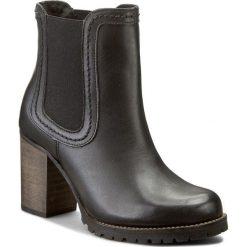 Botki FILIPE - 4424 Preto 6703. Czarne buty zimowe damskie Filipe, ze skóry, na obcasie. W wyprzedaży za 259,00 zł.