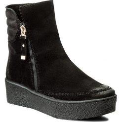 Botki EVA MINGE - Tere 2F 17SM1372214EF 801. Czarne buty zimowe damskie Eva Minge, z nubiku. Za 429,00 zł.
