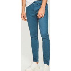 Rurki męskie: Spodnie skinny fit – Niebieski