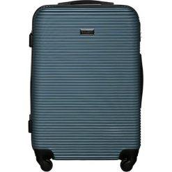 Walizki: Walizka w kolorze srebrno-niebieskim – (S)46 x (W)68 x (G)26 cm