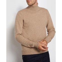 Swetry damskie: Sweter z golfem, 100% wełna jagnięca