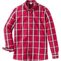 Koszula w kratę Regular Fit bonprix ciemnoczerwono-ciemnoniebieski w kratę. Zielone koszule męskie marki bonprix, w kropki, z kopertowym dekoltem, kopertowe. Za 59,99 zł.