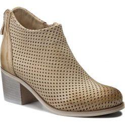 Buty zimowe damskie: Botki R.POLAŃSKI - 0855 Beż Nubuk