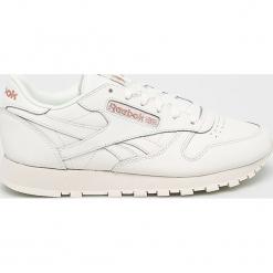 Reebok - Buty Cl Lthr. Szare buty sportowe damskie marki Reebok, l, z dzianiny, z okrągłym kołnierzem. Za 379,90 zł.