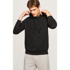Bejsbolówki męskie: Bluza kangurka z kapturem - Czarny